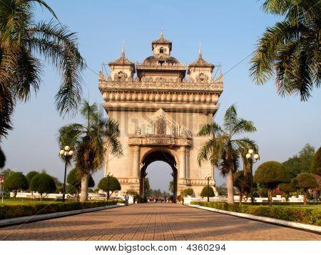 Arc De Tromphe In Vientiane
