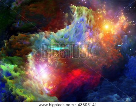 Pintura colorida Fractal