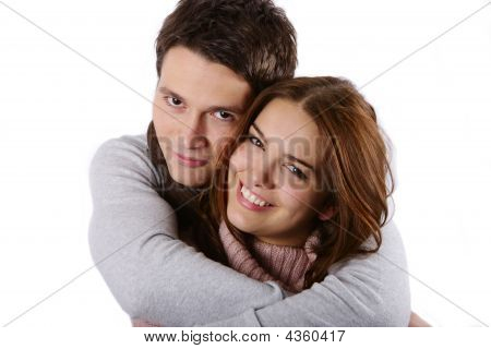 Young Attractive Couple Passionately In Love