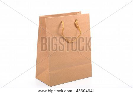 Empty Recycled Paper Shopping Bag