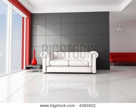 White And Red Room
