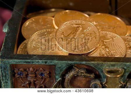 Coleção de uma onça de ouro moedas