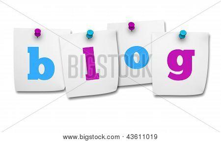 Blog Word On Post It