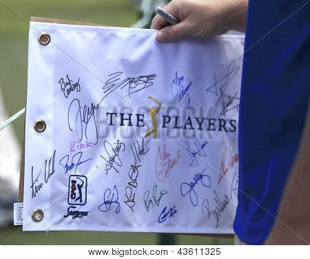 Autographs hunters at The Players championship 2012