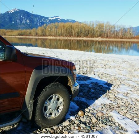 4X4 Truck At River