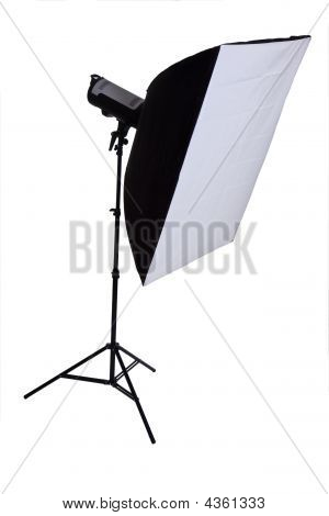 Studio Strobe mit softbox