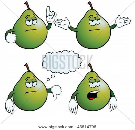 Bored pear set