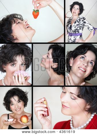 Lifestyle Woman Collage