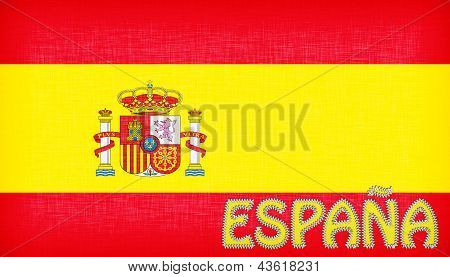 Flag Of Spain With Letters