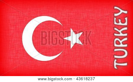 Flag Of Turkey With Letters