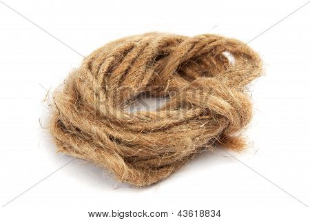 Coil Of Rope Isolated On A White Background.