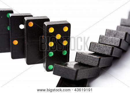 Standing And Fallen Domino