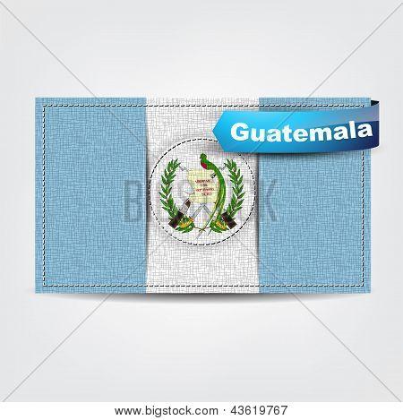 Textura de tecido da bandeira da Guatemala