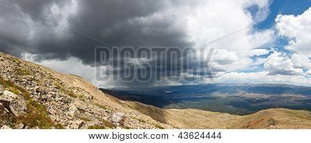 Mountain Rain Storm Panorama