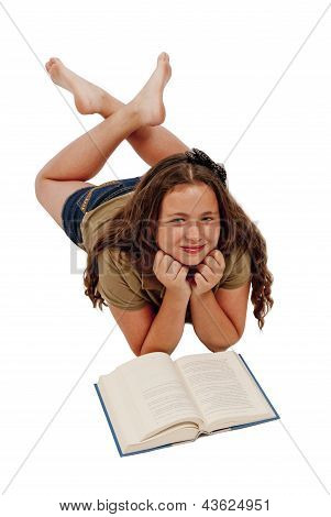 Young Girl With Book Smiling