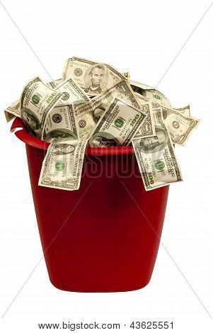 Wasting Money Isolated On White