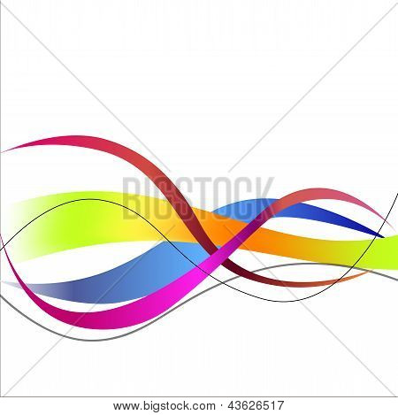 Von with colored wavy lines