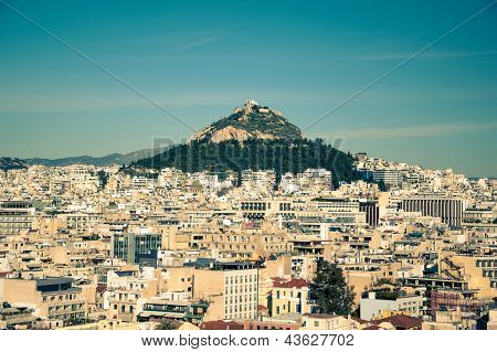 View of Athens City from the Acropolis Hill