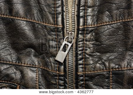 Leather Structure With A Fastener