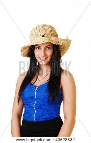 Girl In Straw Hat.