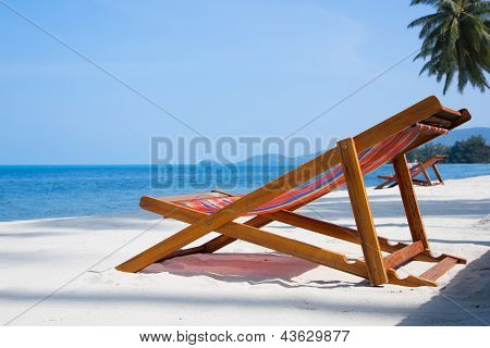 Deck-chairs On The Beach