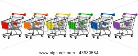 Six Shopping Carts