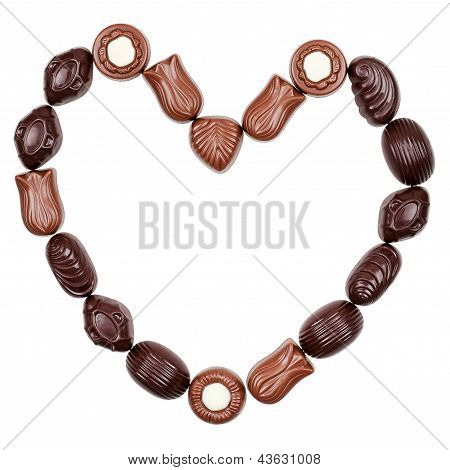 Heart From Chocolate Candies