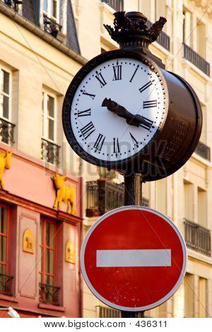 Parisian Street Clock
