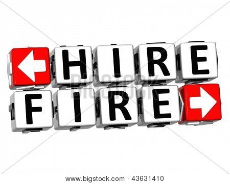 3D Hire Fire Button Click Here Block Text