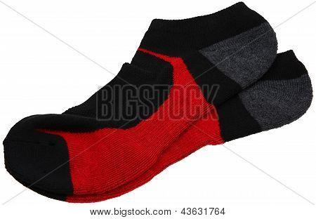 Pair Of Athletic Socks Over White