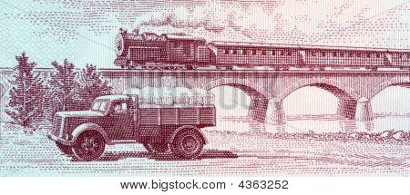 Truck And Steam Passenger