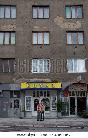 Bullet Scars In Sarajevo