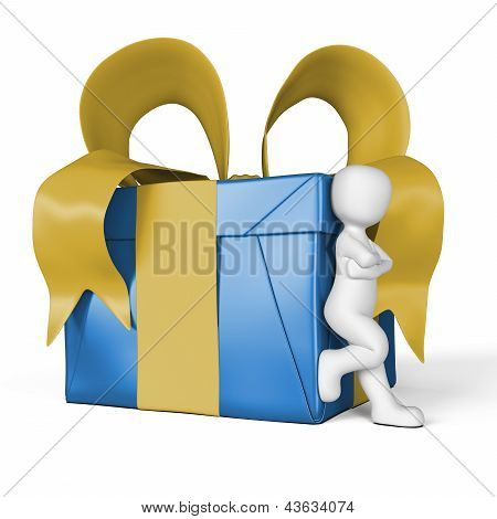 My Gift In Blue And Yellow
