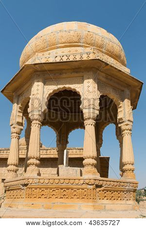 Royal Cenotaphs With Floral Ornament, India