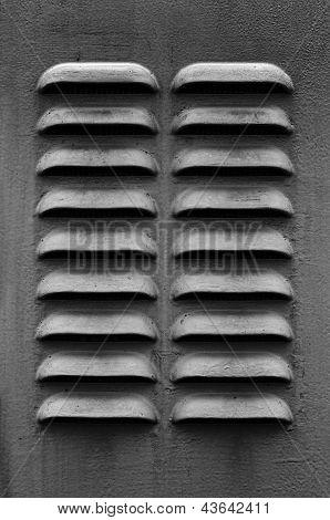 Dark Gray Ventilation Louver