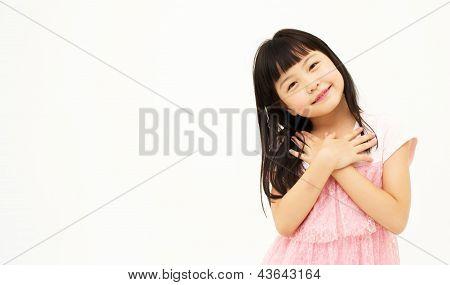 Asian little girl's portrait