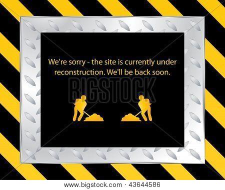 Website Under Construction - Vector