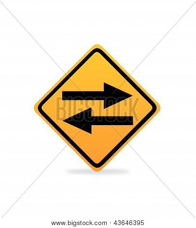 Two Way Road Sign