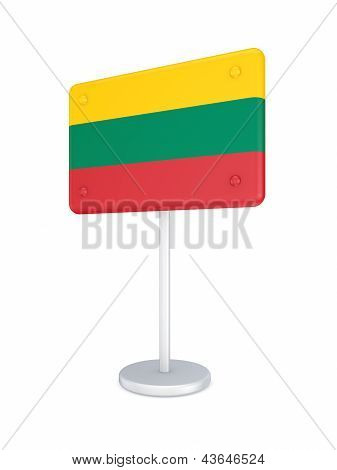 Bunner with flag of Lithuania.
