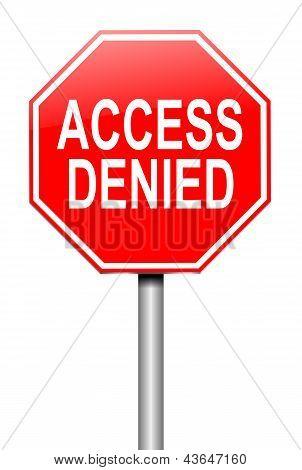 Access Denied Concept.