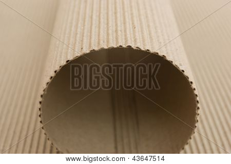 Arch Shaped By Cardboard Corrugated