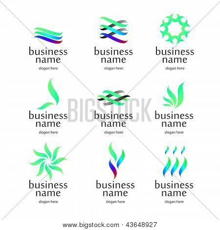 Medical Logo From Green Petals