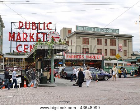 Public Market In Seattle
