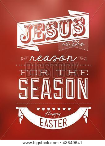 Happy Easter Typographical Background