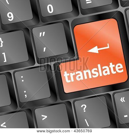 Traducir el botón en el teclado