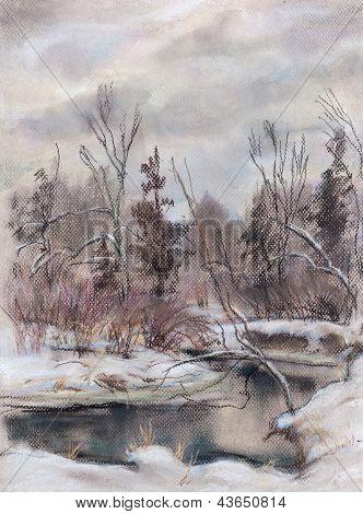 Stream In The Winter