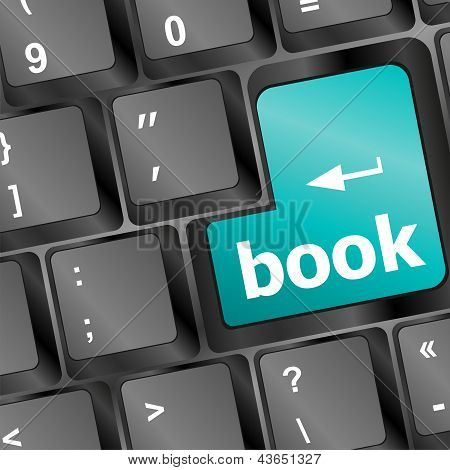 Book Button On Keyboard - Business Concept