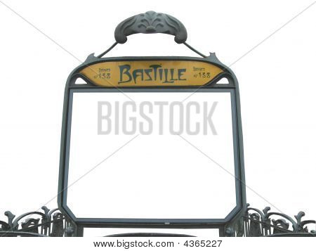 Personalise Bastille Sign