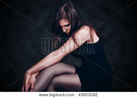Beautiful Woman In Pantyhose