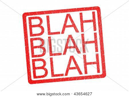 Blah Blah Blah Rubber Stamp